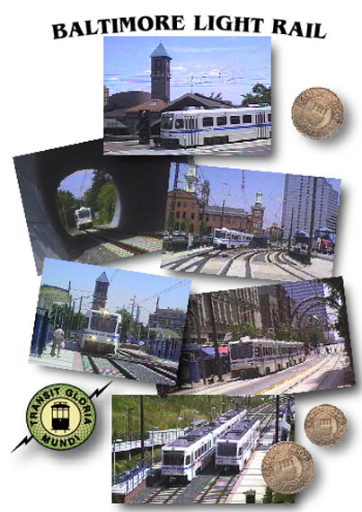 Baltimore Light Rail - Image of the front cover of the cassette case.