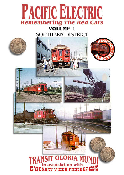 Pacific Electric: Remembering the Red Cars Volume 1: Southern District - Image of the front cover of the cassette case.