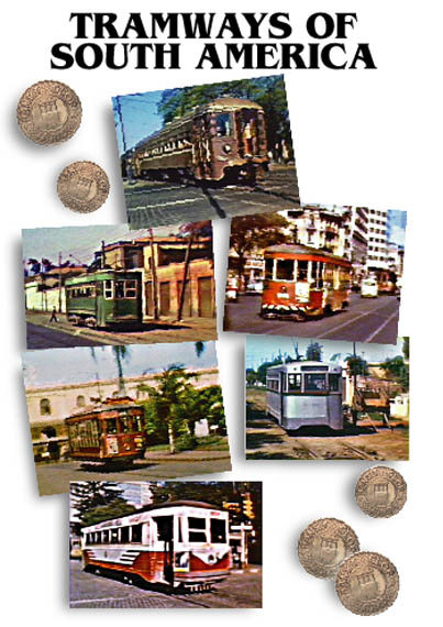 Tramways of South America - Image of the front cover of the cassette case.
